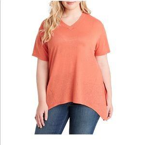 4470b1a57ae Plus Size Jessica Simpson handkerchief shirt. 1x NWT